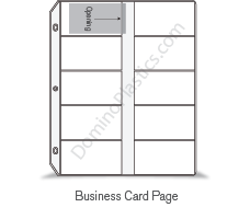 Binder Pages For Business Cards